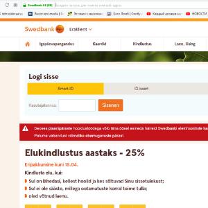 Foto: Ekraanitõmmis swedbank.ee.